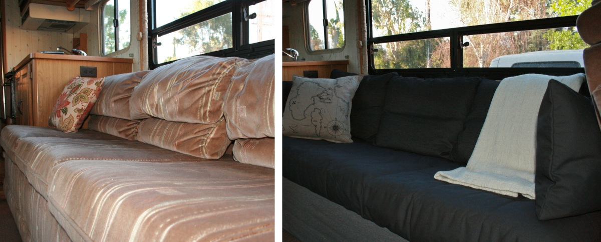 Rv Renovation Jackknife Couch Before After Dirt Roads
