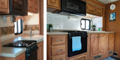 Freshen Up Your Rv Kitchen With A Peel And Stick